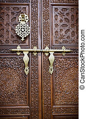 Islamic style door with details background