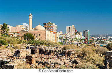 Islamic University of Lebanon and ancient ruins in Tyre