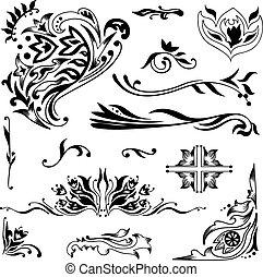 Islamic vignettes - Set of elegant vector ornaments with...