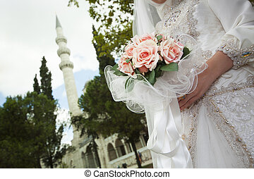 Islamic wedding concept.