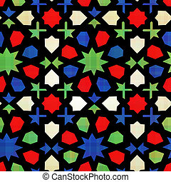 islamico, geometrico, seamless, modello