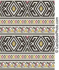 islamico, seamless, marocchino, modello