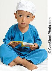 islamique, enfants, apprentissage