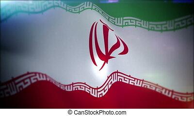 """islamique, """"flapping, drapeau tricolore, iran"""""""