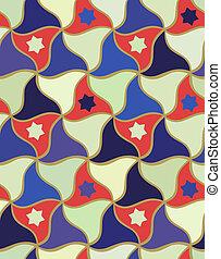 islamique, géométrique, seamless, modèle