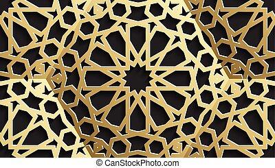 islamique, modèle, seamless, stars., vecteur, fond