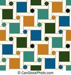 islamique, modèle, seamless, tuiles