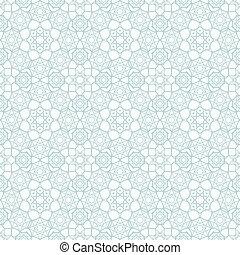 islamique, seamless, modèle