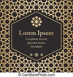 islamique, vecteur, ethnique, gabarit, invitation