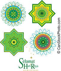 islamique, vecteur, modèle