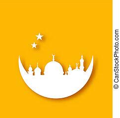 islamisch, feiertag, hintergrund, ramadan, kareem