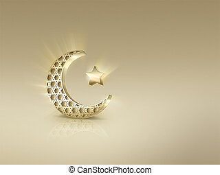 islamisch, halbmond