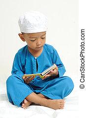 islamisch, lernen, kinder