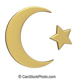 islamisch, symbol, halbmond