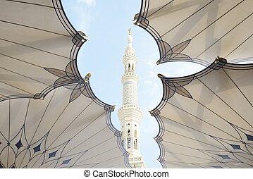 islamitisch, heilig, moskee, op, madina