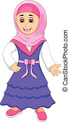 islamitisch, vrouw, het poseren, beauty, glimlachen
