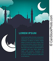 islamski, projektować, szablon