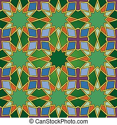 islamski, seamless, próbka