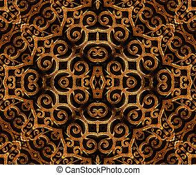 islamski, styl, sztuka, próbka