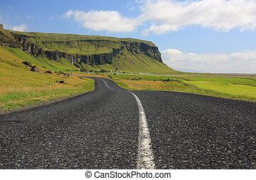 islandês, paisagem