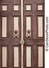 island., (alibey), de madera, encima de cierre, puerta, cunda, viejo, vista