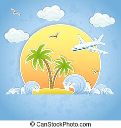 Island and Airplane
