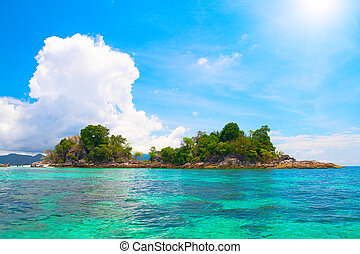 island and beautiful tropical sea