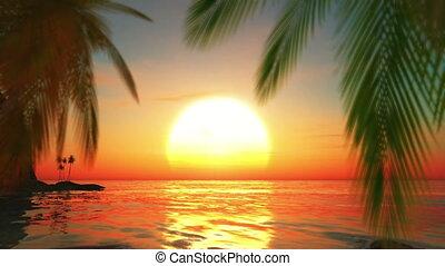 island and horizon