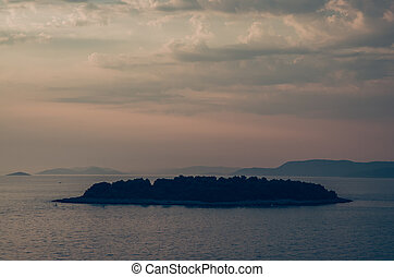 island at the sunset