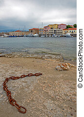 island., chania, grèce, crète, vieux port