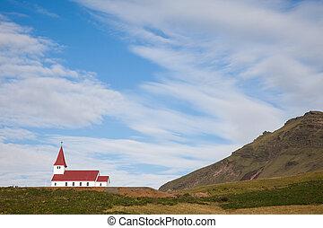 Island church on a hilltop