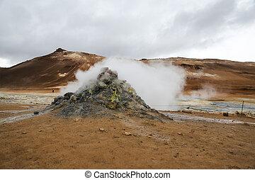 island, geothermisch, namafjall, bereich