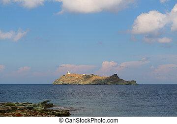 Island Giraglia at cap Corse in France - Landscape French ...