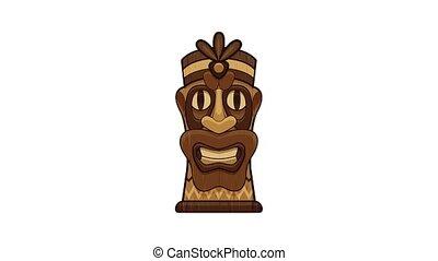 Island idol icon animation cartoon object on white background