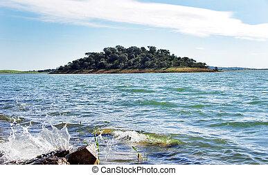 island in alqueva lake, Portugal