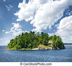 Island in Georgian Bay - Small rocky island in Georgian Bay...