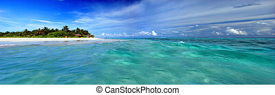 Island in the Maldives - Beautiful Maldivian atoll with...