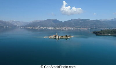 Island in Tivat bay Gospa od Milosti in Montenegro
