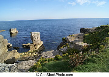 island - Island in Dorset, South West England on the English...
