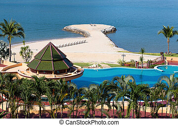 Island Koh Chang ,Thailand - Swimming pool near the sea , ...