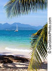 Island Koh Wai , Thailand . - Beautiful tropical beach at...
