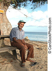 island man with knife 578 - island man with knife at the...