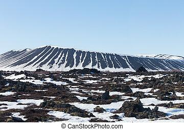 island, myvatn, vulkan