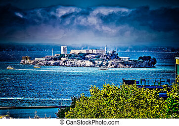 Island of Alcatraz, San Francisco, HDR processed image