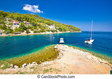 Island of Dugi otok coastline view, Dalmatia, Croatia