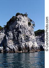 island of palmaria in front of portovenere