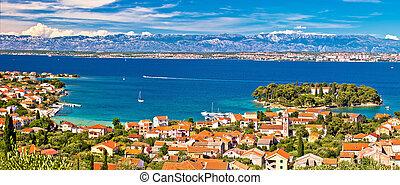 Island of Ugljan waterfront panoramic view