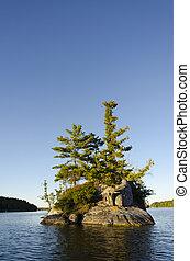 Island on a Northern Lake