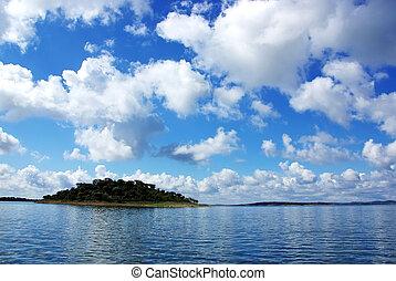 Island on Alqueva lake