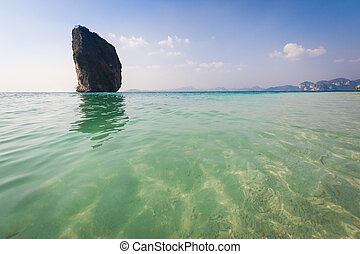 Island on beautiful sea